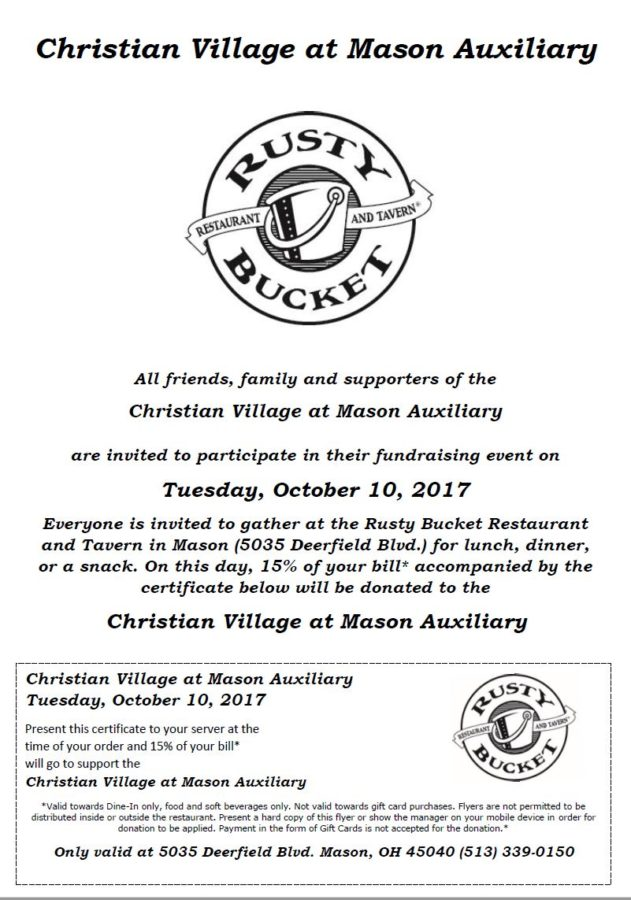 Rusty Bucket Fundraiser