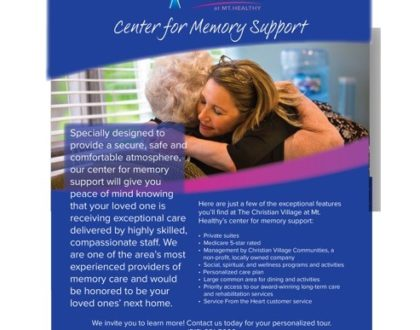 At the Christian Village at Mt. Healthy, we are one of the area's most experienced providers of memory support.